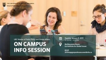 Master of Public Policy and Global Affairs: Info Sessions
