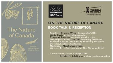 Book Launch – The Nature of Canada | Wednesday, October 2