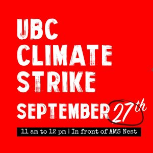 UBC IRES – Statement of Support for Global Climate Strike