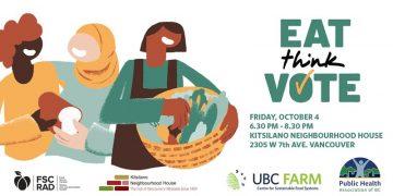 Eat Think Vote' Event for Vancouver-Quadra Riding