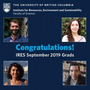 Congratulations to the September 2019 Graduates!