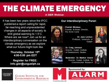 The Climate Emergency: A GIER Webinar