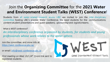 WEST Conference Organizing Committee Recruiting