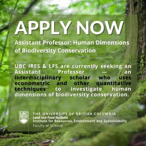 Seeking Assistant Professor: Human Dimensions of Biodiversity Conservation